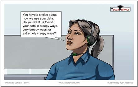 Cartoon by @DanielSolove on why notice and choice are not enough – avoid being creepy  https://www. teachprivacy.com/cartoon-notice -choice-avoid-creepy/ &nbsp; …  #privacy <br>http://pic.twitter.com/YhTnoW2EIO