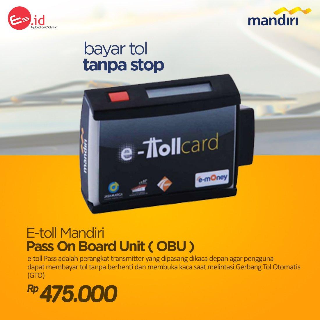Electronic Solution On Twitter E Toll Mandiri Obu Board Unit 800 Am 26 Jun 2017