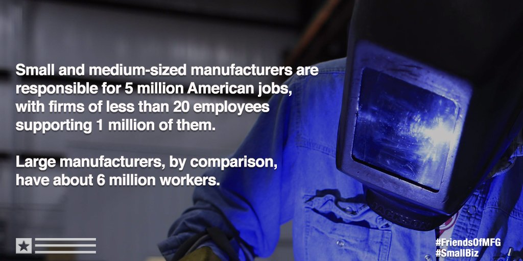 Small #manufacturers Are Vital to American Jobs #SmallBiz #WeAreMFG  http:// bit.ly/NAMfacts  &nbsp;  <br>http://pic.twitter.com/RJjzVxMYaw