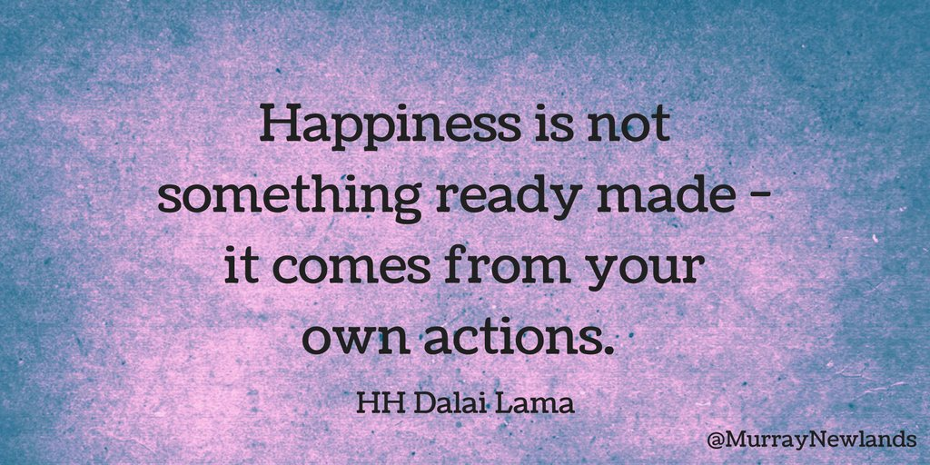 Happiness is not something ready made - it comes from your own actions -- Dalai Lama  #MondayMotivation #Motivation <br>http://pic.twitter.com/yJCr71qUur