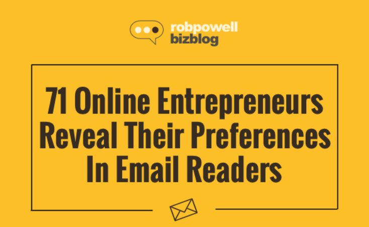 [HAPPY TO BE INCLUDED] 71 Online #Entrepreneurs Reveal Their #Email Preferences (by @robpowellbiz) &gt;&gt;&gt;&gt;  http:// samhurley.tips/9JfDS  &nbsp;  <br>http://pic.twitter.com/iH0UcuXtWb