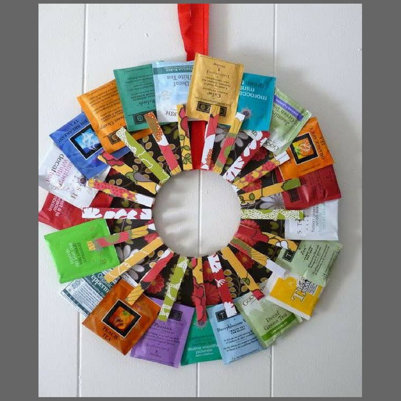 This beautiful tea wreath is a perfect DIY gift for the tea loving mom...