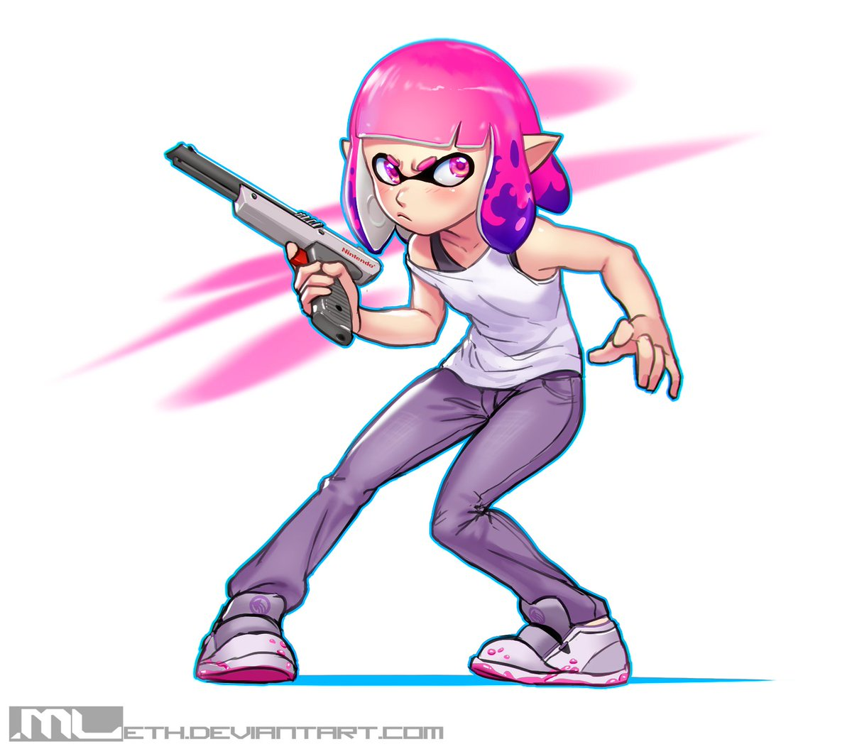 This is a fun lil drawing I did of @noitibmar&#39;s character Lynn! She&#39;s a badass inkling, that&#39;s for sure!  #Splatoon #Drawing <br>http://pic.twitter.com/UzKWVl7JVu