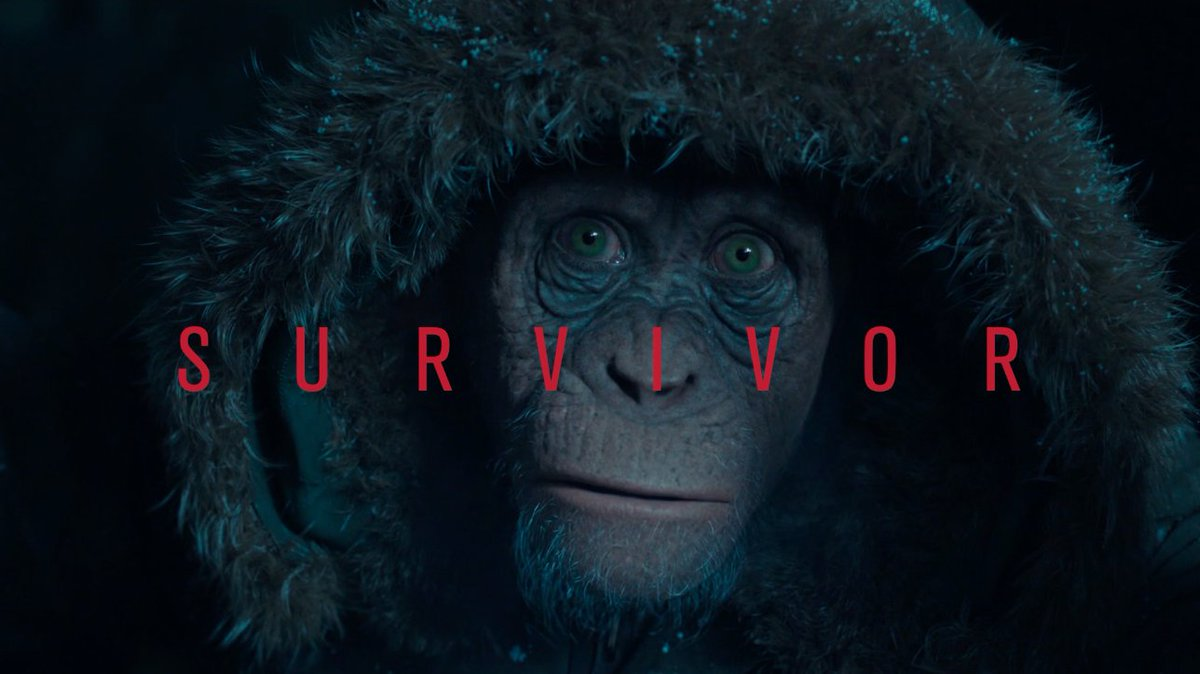 The Survivor. See Bad Ape in #WarForThePlanet, in theaters July 14. ht...