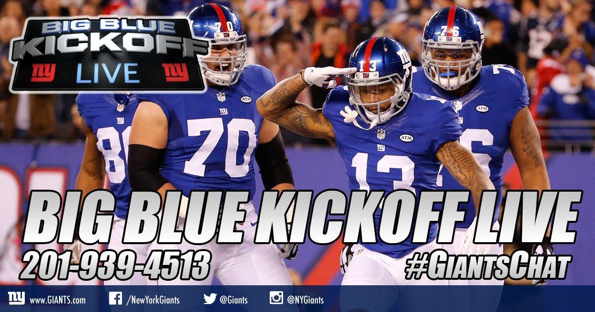Hosting BBKL w/@giantswfan 12PM ET @Giants.com @arniestapleton talks #Broncos + your calls #giantschat  http:// giants.com/bigbluekickoff  &nbsp;  <br>http://pic.twitter.com/q5v03Ai8zm