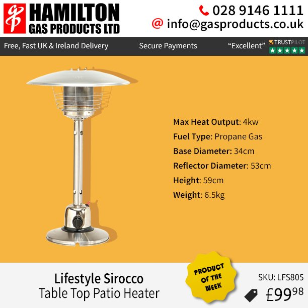 Gas Products On Twitter Check Sirocco Table Top Patio Heater Here Https T Co Jm1w4zlrwc Hamiltongasproducts Lifestyle Potw Productoftheweek