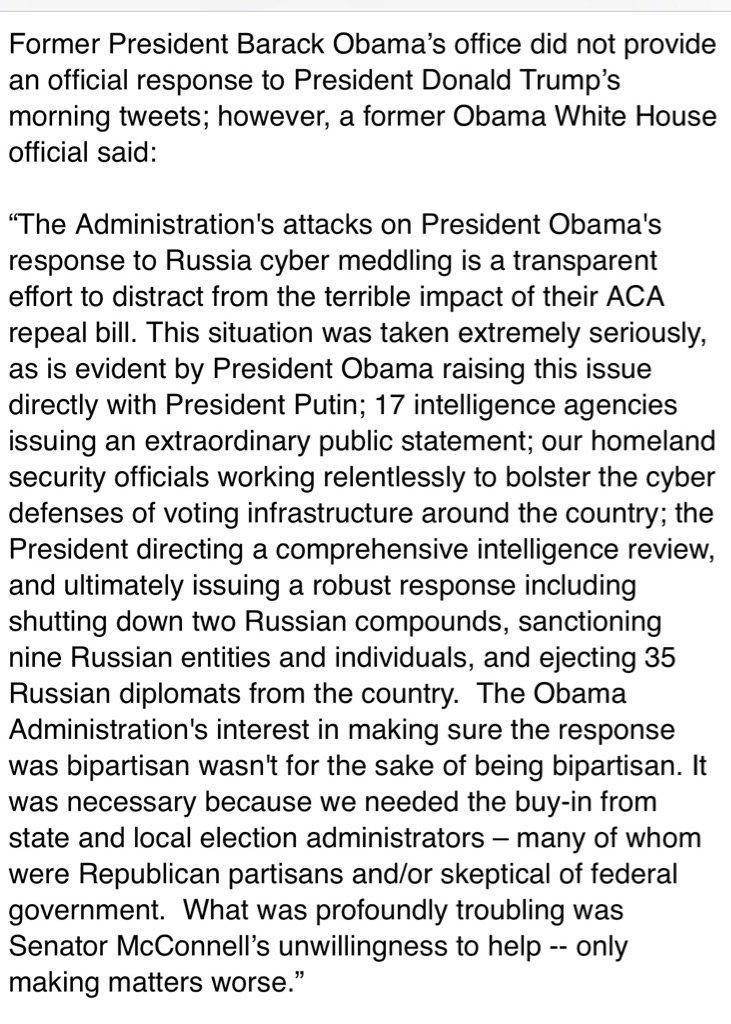 former Obama White House official responds to POTUS tweetstorm