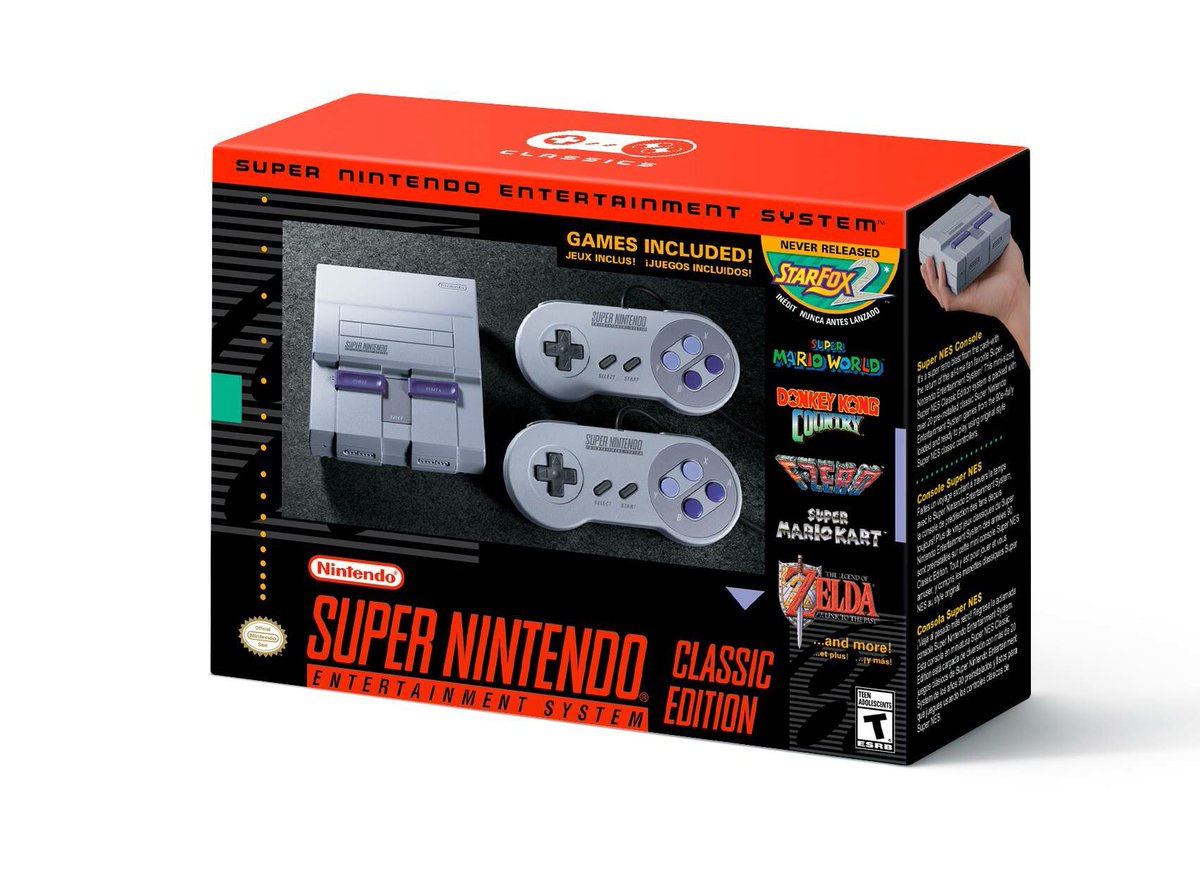 This is happening! Even #StarFox2 is part of the deal! Coming to a store near you for $80 on September 21st #retrogaming #GamersUnite #SNES<br>http://pic.twitter.com/DmfSjgOJWx