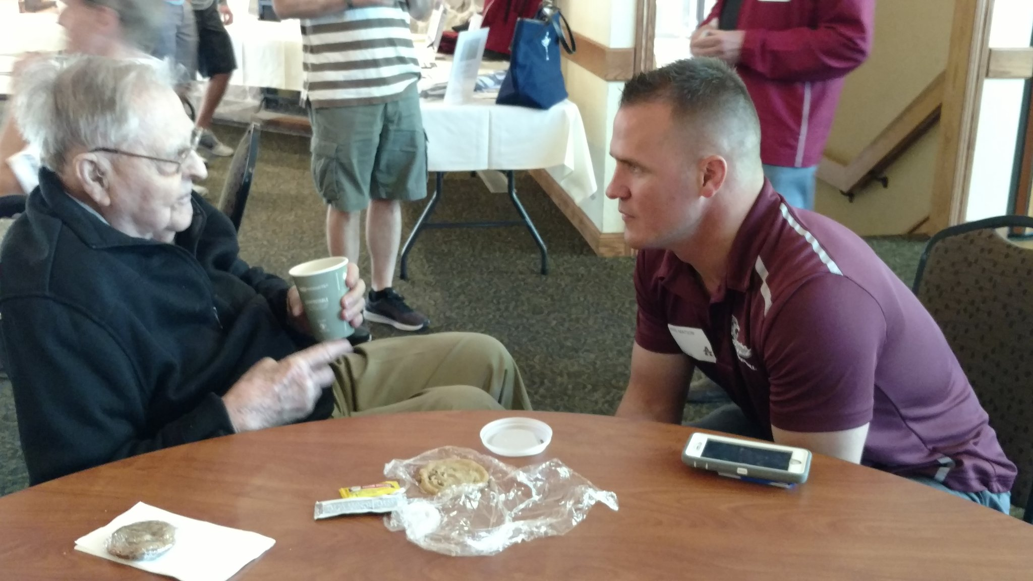 'Mr. Augsburg', Jeroy Carlson, and Auggie football great Mike Matson at the A-Club Golf Tourney. #AuggiePride https://t.co/HzDNyRkUPk