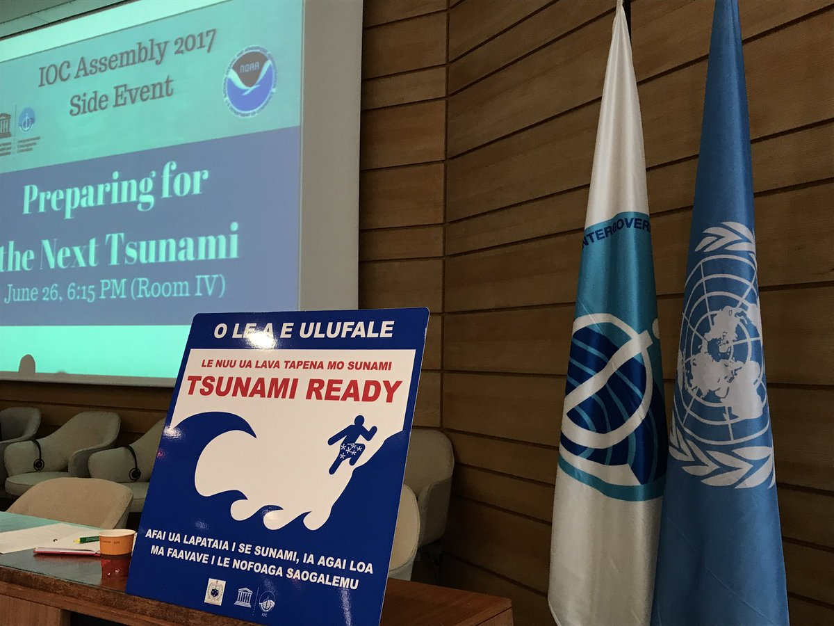 Looking forward to this great @NOAA #tsunami #risk reduction session @IocUnesco&#39;s assembly. Paving the way for #TsunamiDay2017<br>http://pic.twitter.com/RkbeFwjfEq