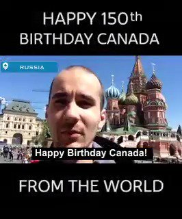 Happy Birthday from around the world.   Why do you love Canada? #Canada150 https://t.co/sZFNqlFjZu
