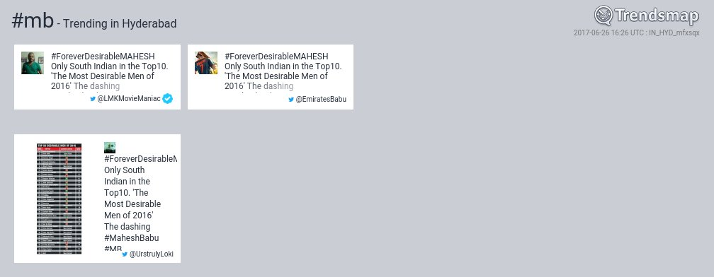 #mb is now trending in #Hyderabad   https://www. trendsmap.com/r/IN_HYD_mfxsqx  &nbsp;  <br>http://pic.twitter.com/jrI0gMQjtf