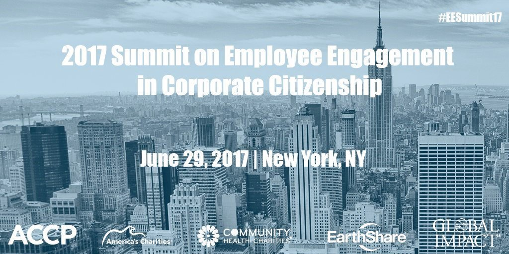 Join @AmerCharities, @charitiesatwork & @accprof this Thurs. 6/29 @ 8:30 am ET for the #EESummit17! Register now: https://t.co/g80DVF0OX4 https://t.co/CDHPf25M7V