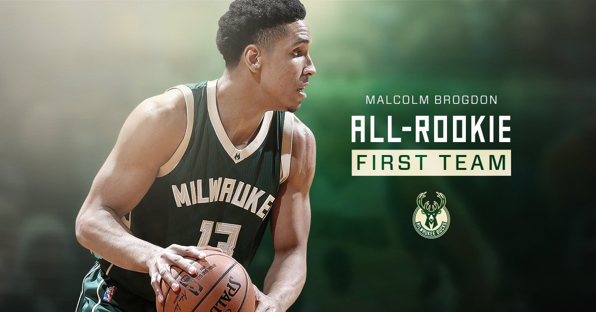 Congratulations to Malcolm Brogdon on being named to the @NBA All-Rook...