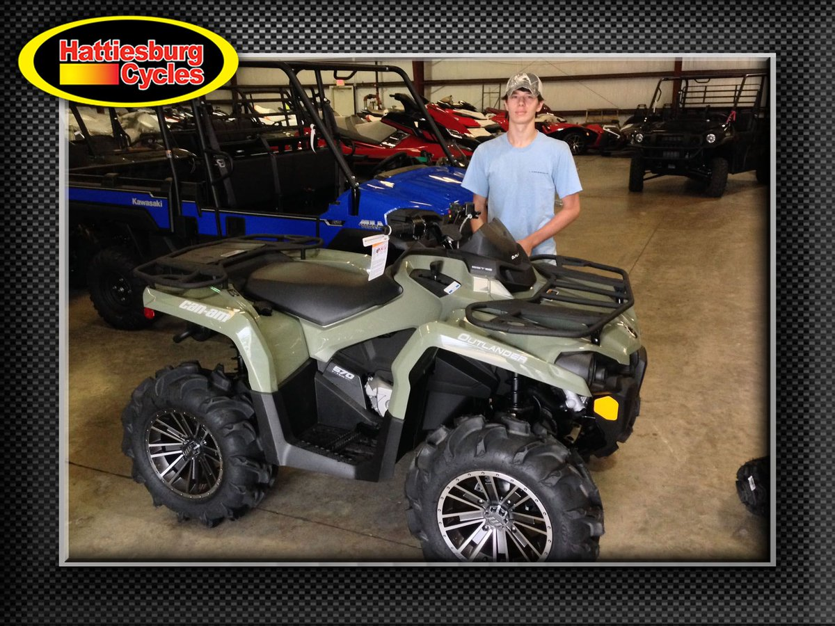 Thank you Nathan Cooley from Ovett MS for getting a 2017 Can-Am Outlander 570 #canam <br>http://pic.twitter.com/QS2OwjIrtO