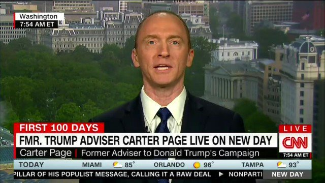 JUST IN: Ex-Trump adviser Carter Page questioned in FBI Russia investigation: report https://t.co/FYJ2c12Sh9