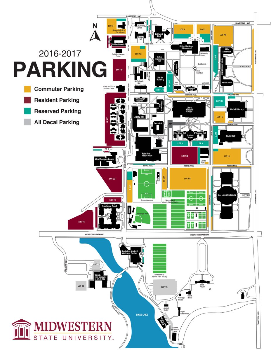 Midwestern State On Twitter Parking Lots 1 6 16 20 Refer To