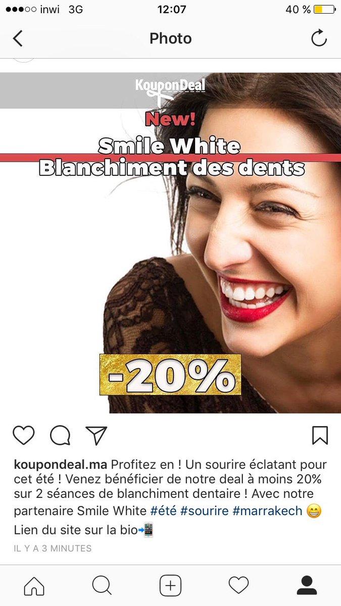 Smile white !!! #maroc #beaute #blanchiment<br>http://pic.twitter.com/szmPQixd7g