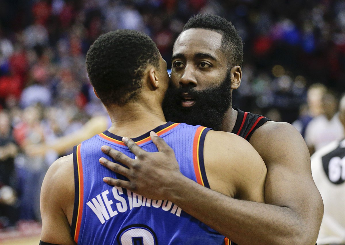 From LA to OKC to the MVP race, Russ and Harden have plenty of history...