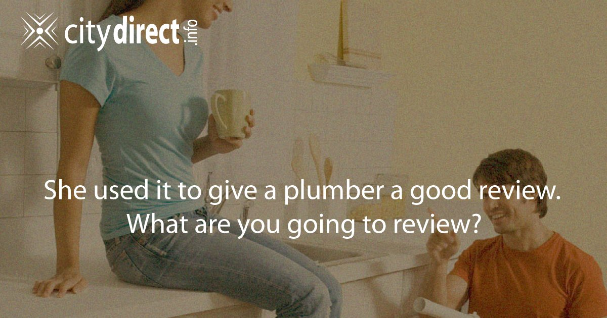 She reviewed her #plumber. Support #SmallBiz and #BuyLocal. What are you going to #review in #Taylor?  http:// bit.ly/1PQ5ZSm  &nbsp;  <br>http://pic.twitter.com/eJrgexTYkN
