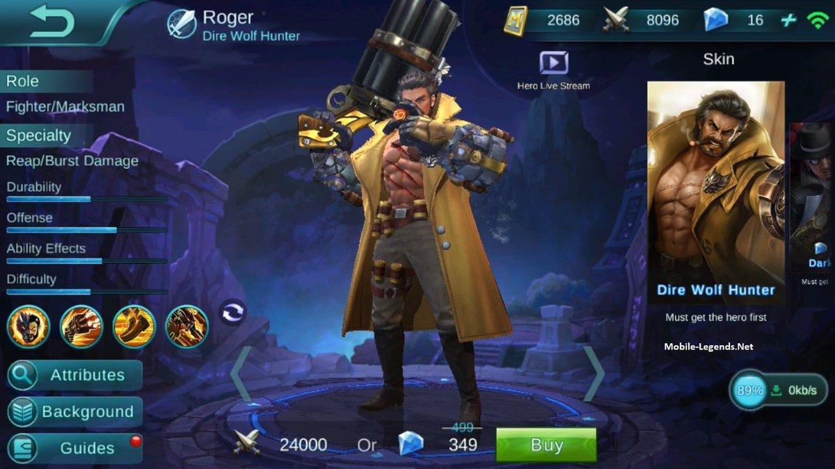 Hd wallpaper mobile legend roger - Mobile Legends Fan On Twitter Roger High Damage Build Roger Is Really Over Powered Hero With This Build Roger Mobilelegends Mlbb