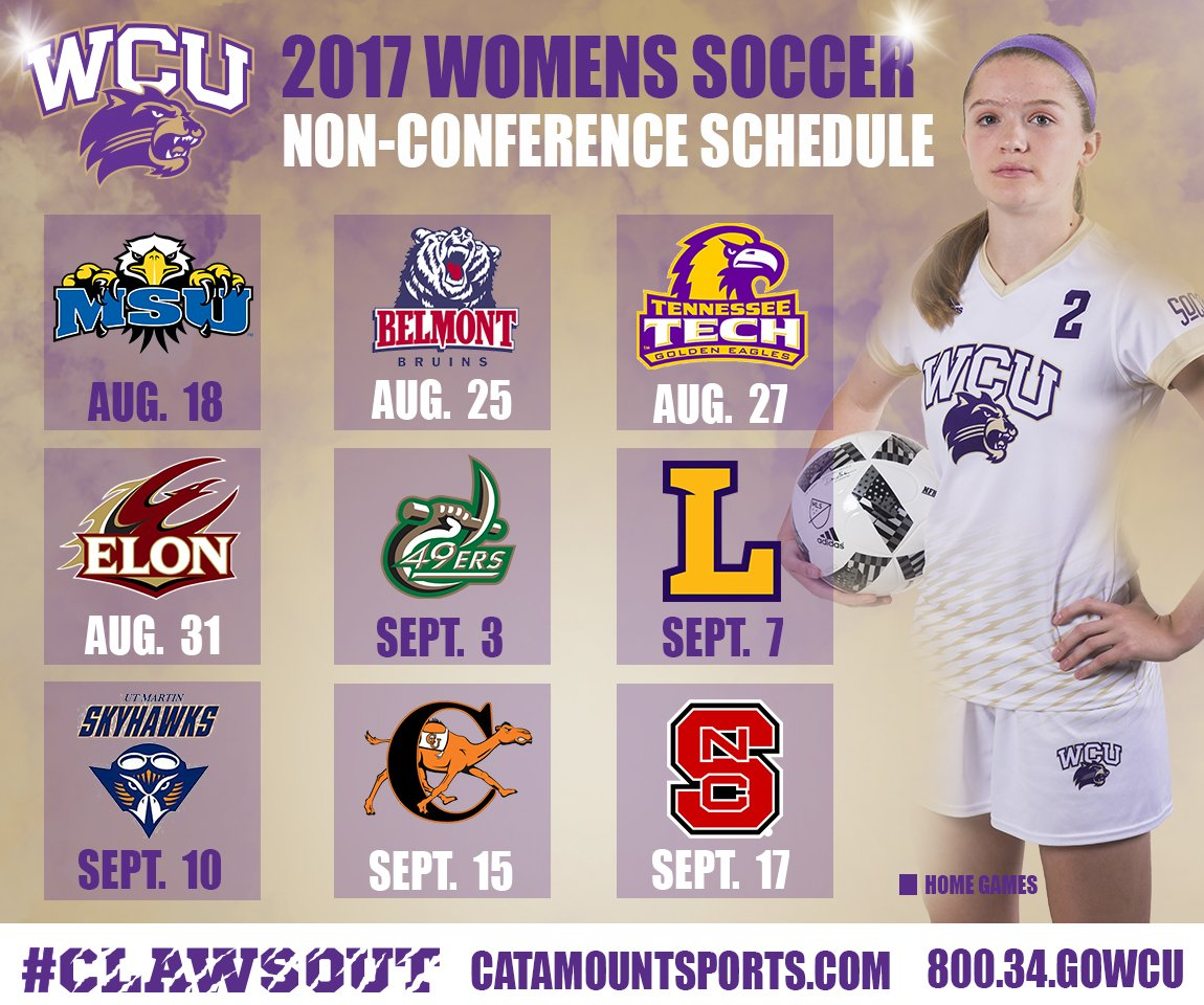 2017 Soccer Non-Conference Schedule