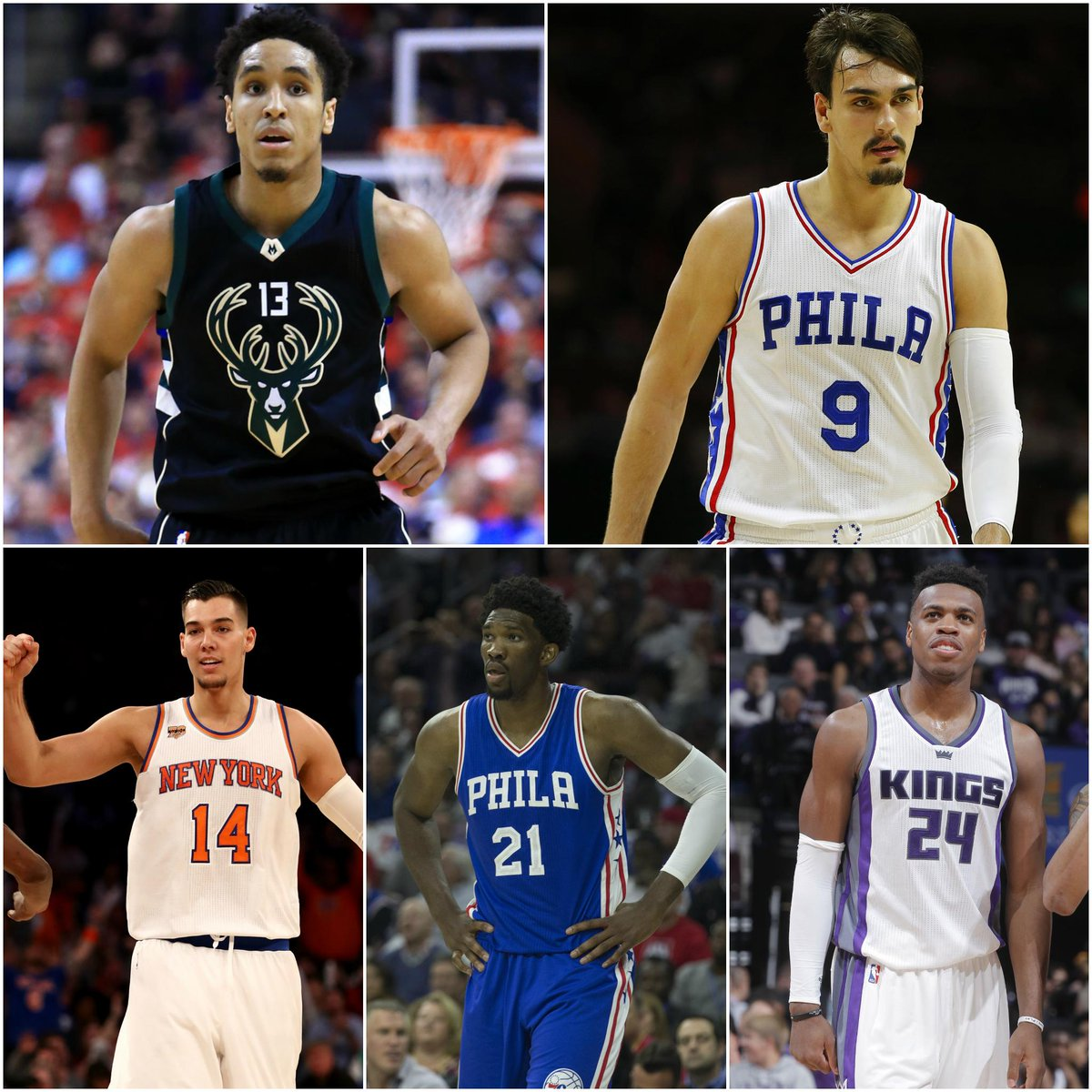 And the NBA All-Rookie team is... Malcolm Brogdon Dario Saric Joel Emb...