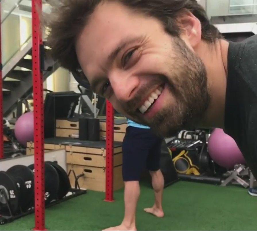 &quot;This man&#39;s crazy. He&#39;s crazy ... [chuckles]... He&#39;s crazy!&quot; -#SebastianStan  https://www. instagram.com/p/BVz8JusloKR/  &nbsp;   #DonSaladino #gym #Drive495 #gymmafia<br>http://pic.twitter.com/7MErJCbiGG