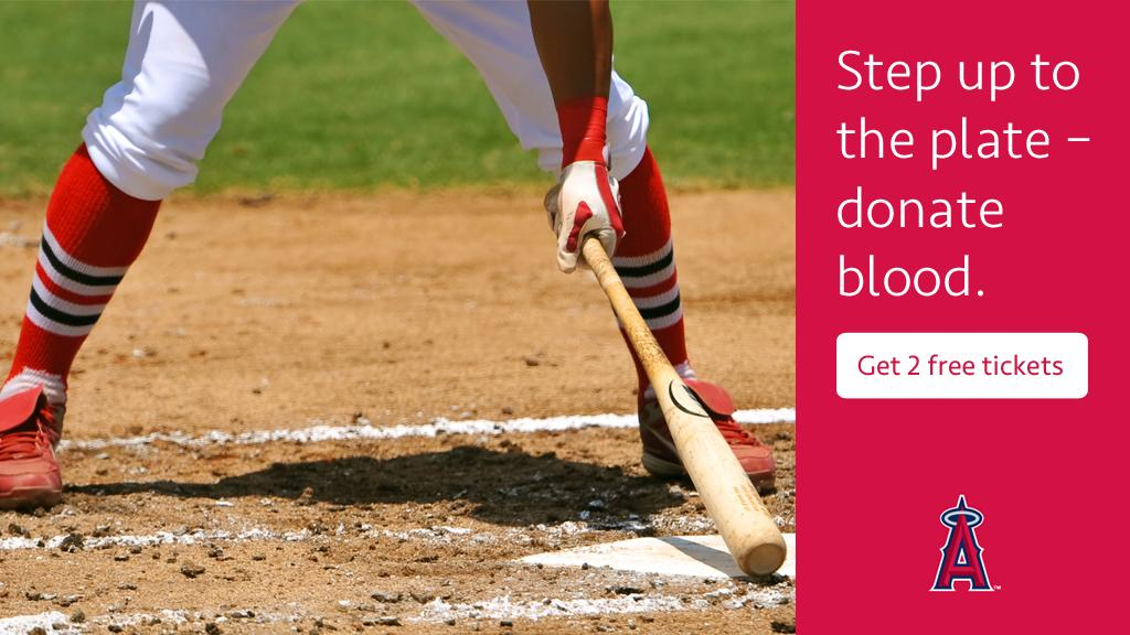 Get 2 FREE game tickets when you donate blood on 6/28 & 7/8 at Ang...