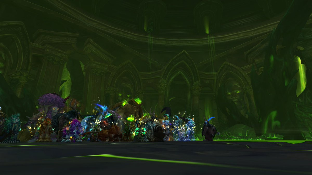 8/9 Tomb of Sargeras with all druids! #Warcraft  Stagtastic :) <br>http://pic.twitter.com/X7J1yqBrCO