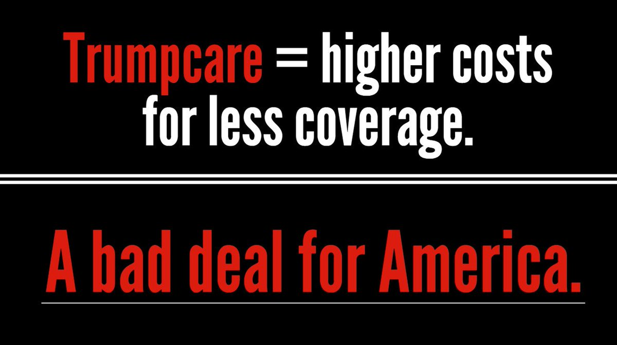 #Trumpcare means higher costs for less coverage. It is a bad deal for America. Stop this bill. #MyHealthMyFuture #sayfie #FlaPol<br>http://pic.twitter.com/COBOlolr5v