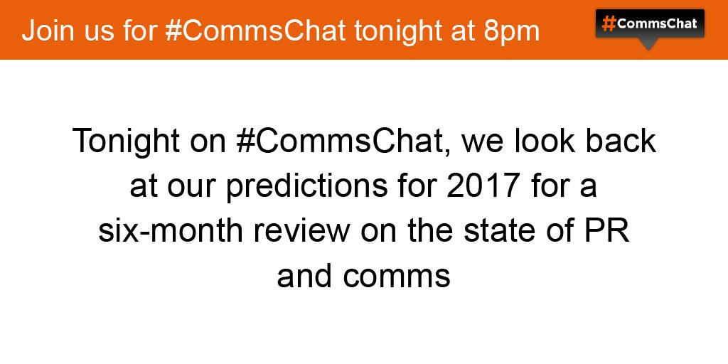 Thumbnail for #CommsChat on the state of PR and comms in 2017 - so far