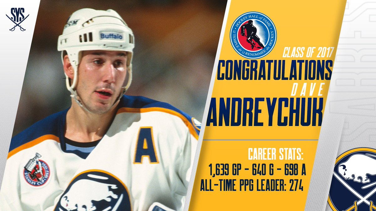 Congrats to Sabres alum Dave Andreychuk on being named to the @HockeyH...