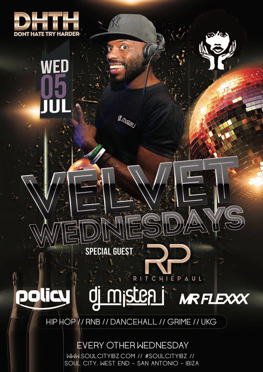 Pleased to announce that I&#39;ll be DJ&#39;ing at @SoulCityIBZ next Wed 5th July.  Shouts to @djpolicy x @IwaiSimon.  #DJLife #Ibiza<br>http://pic.twitter.com/sxqbS5UYFs