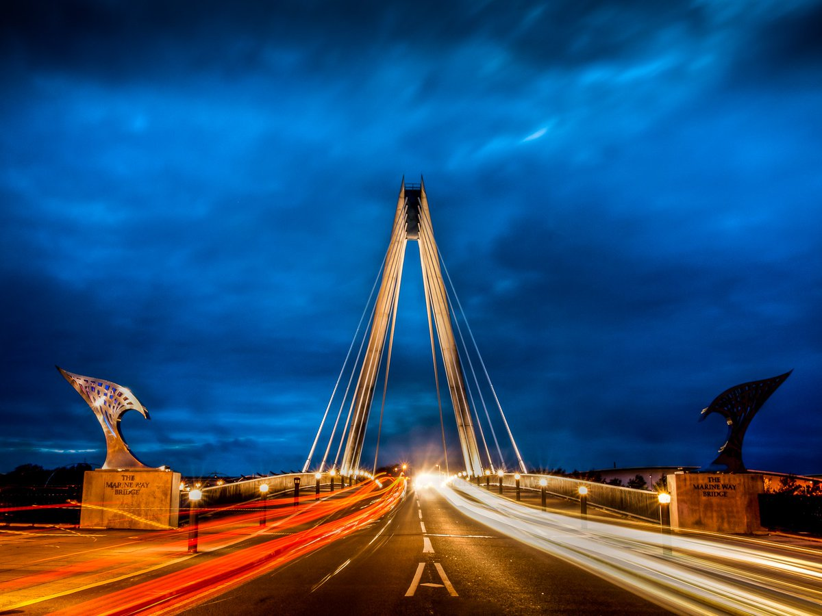 Light trails and dark skies - blue hour @StormHour #stormhour #bluehour #southport <br>http://pic.twitter.com/YiyZzDVdpb