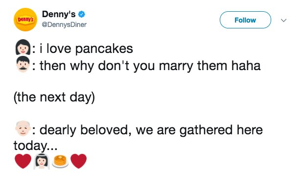 29 hilariously ridiculous Denny's tweets https://t.co/shI916yJBY