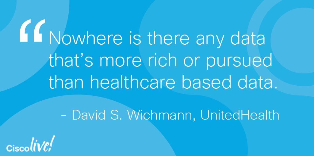 #Healthcare is #1 targeted industry by #hackers, &amp; now we can secure healthcare more than ever before @CiscoHealth #CLUS @IrmaRaste #IoT<br>http://pic.twitter.com/NDG9dU5on9