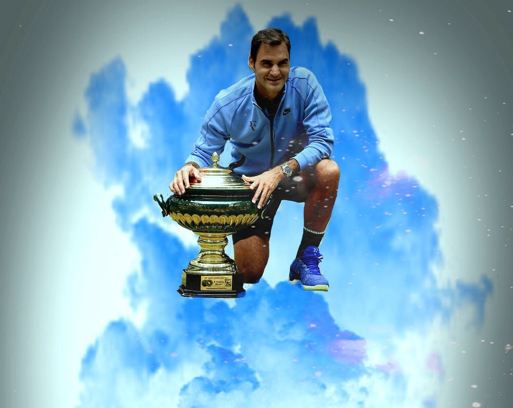 Image result for Roger federer on cloud nine