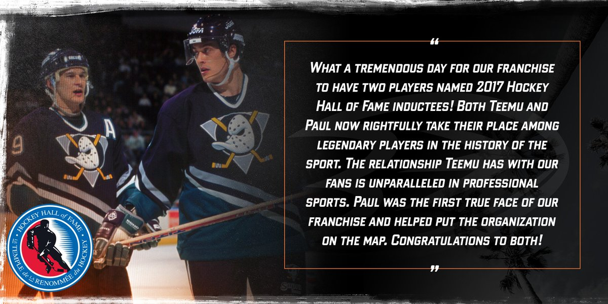#NHLDucks owners Henry and Susan Samueli on the #HHOF inductions of @T...