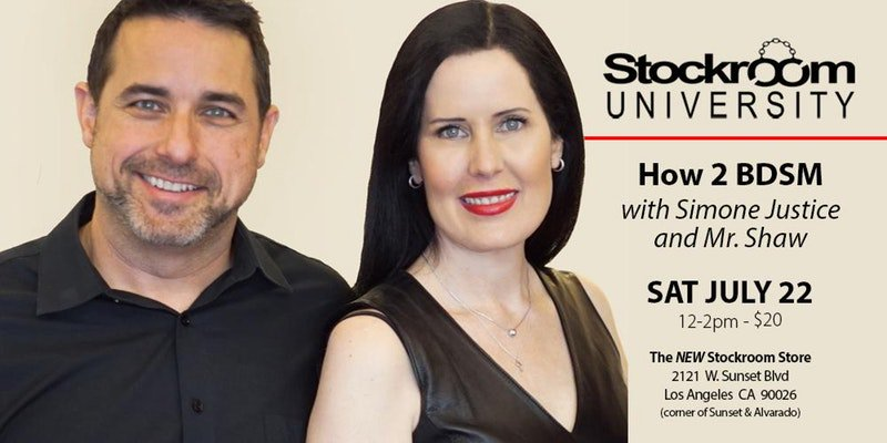 Get tix to Stockroom University&#39;s &quot;How 2 BDSM&quot; and #learn #HowTo #start to #explore &amp; #love #BDSM #Kink &amp; #Fetish  https://www. eventbrite.com/e/how-2-bdsm-w ith-simone-justice-and-mr-shaw-tickets-35702719796 &nbsp; …  <br>http://pic.twitter.com/VXObtE4b8s