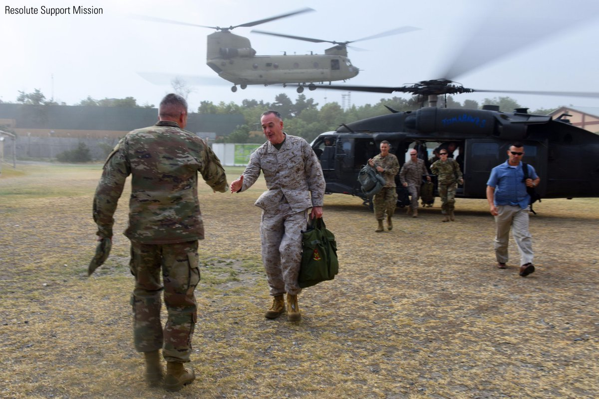 Gen. Dunford arrived in Afghanistan Monday to finalize plans for adding several thousand more troops there