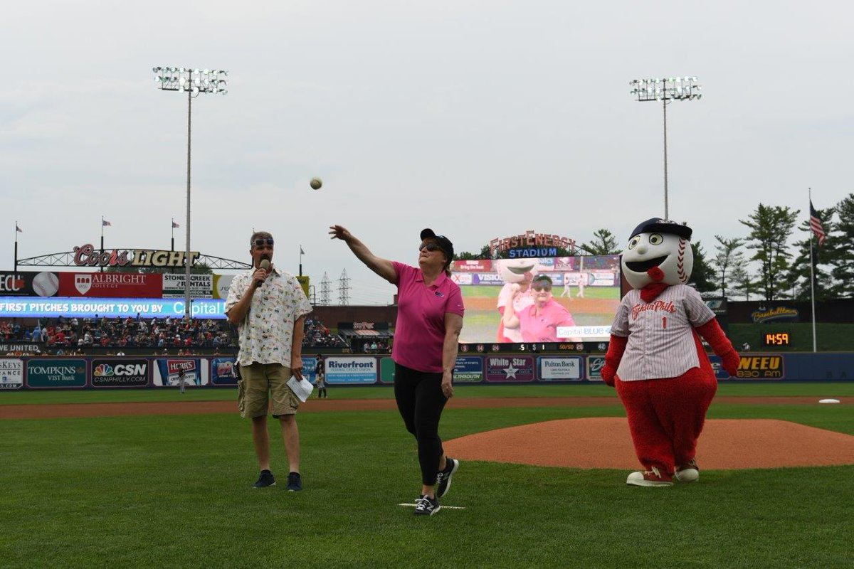 test Twitter Media - UGI's Lori Erb throws the first pitch for the @ReadingFightins at last week's UGI Night game. https://t.co/zLdqOAYWvP