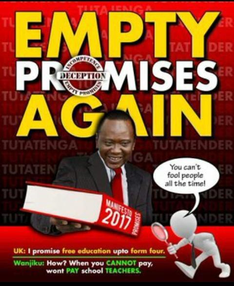 #JubileeManifestoLies  NO MORE LIES.  WAKENYA TUMEAMUA.  #UHURUTOKA <br>http://pic.twitter.com/LpQRu1vAFP