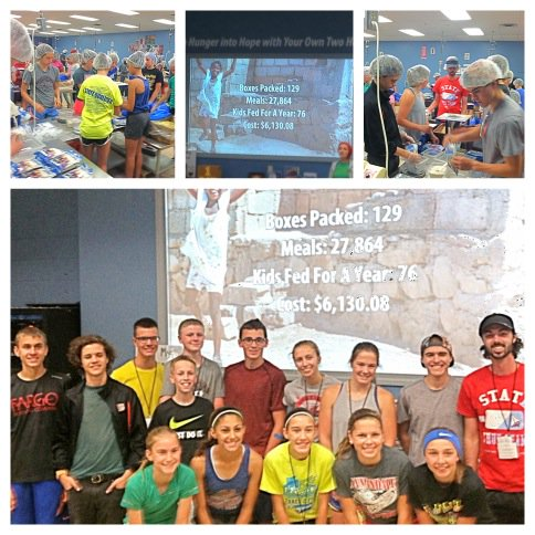 Augsburg Elite Distance Academy volunteering today at @fmsc_org to help pack over 27K meals for children in Haiti! https://t.co/ugdNJT5CA3