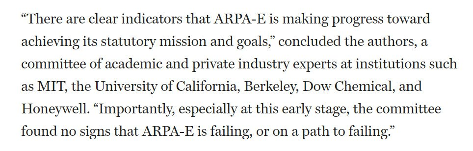 Federal funding plays a critical role in R&D. It would be a mistake to cut short the progress being made by : @ARPAEhttps://t.co/j3qcA2UBUT