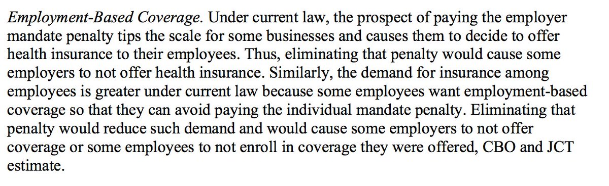 Here's why CBO estimates that 4 million people will lose EMPLOYER-BASED COVERAGE next year. https://t.co/JZjje2SwwI