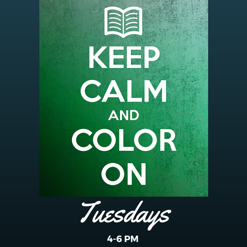Relax with #adultcoloring, Tuesdays, 4-6pm! https://t.co/8O7bWlrf7G #c...