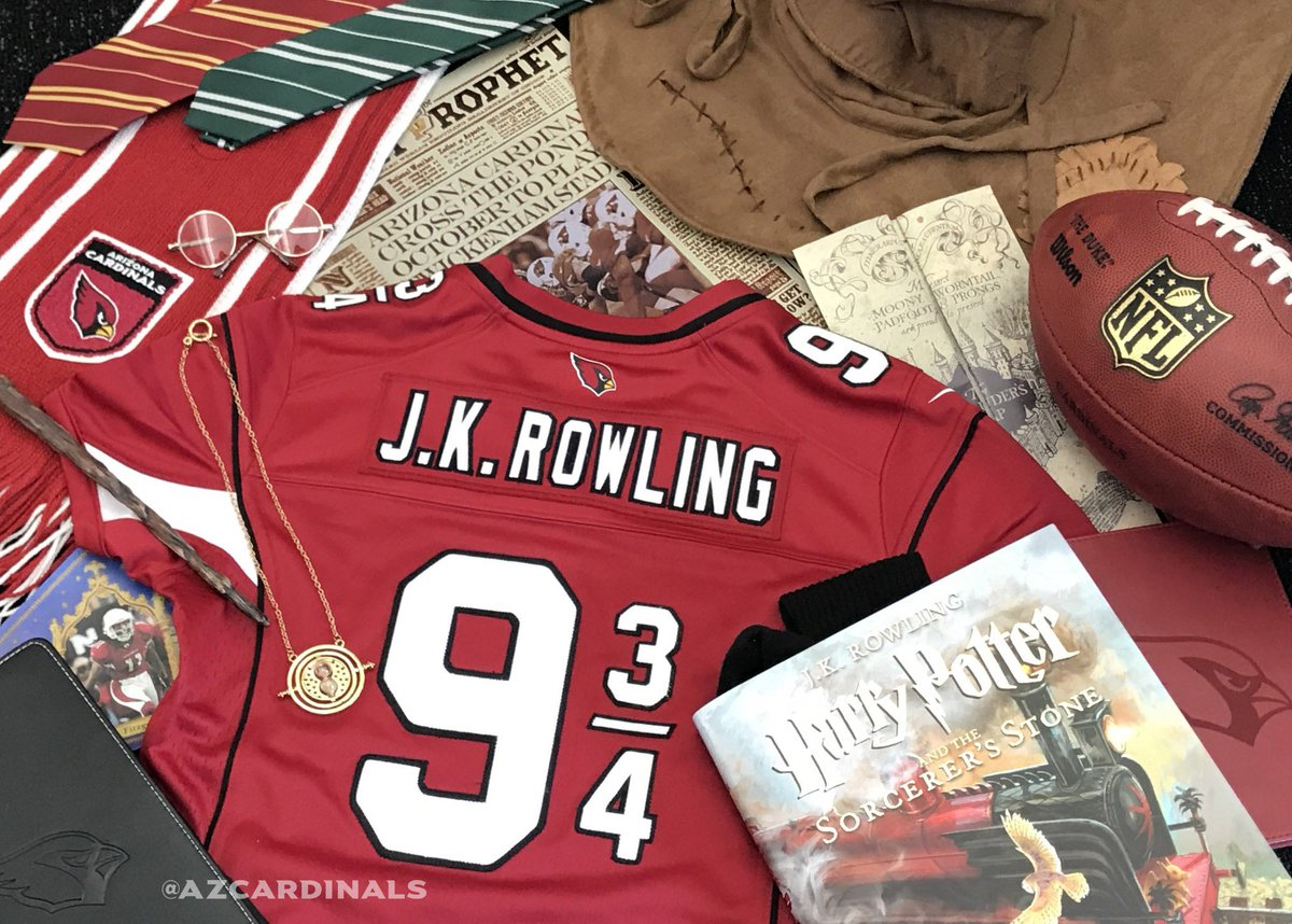 In honor of #HarryPotter20 and our @NFLUK game.  @jk_rowling, hope you...