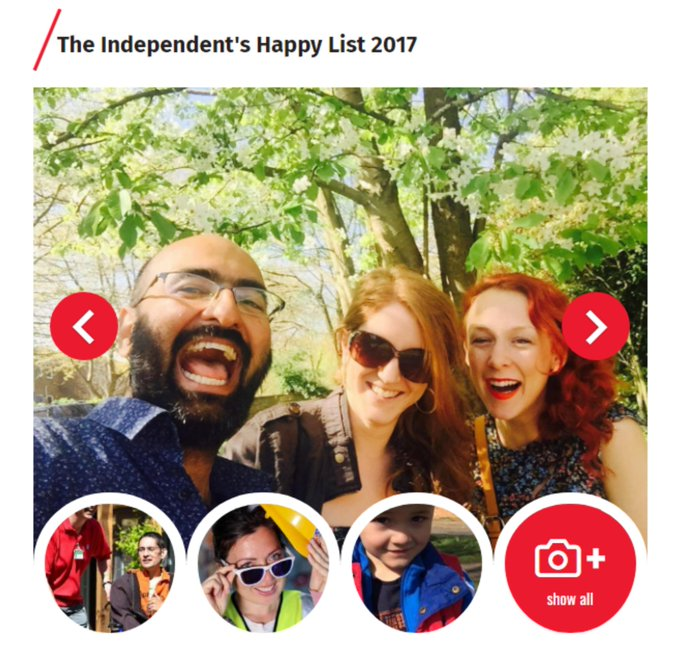 Happy is the new rich! Delighted to see our friends appear on the Happy List 2017 for helping create a happier world https://t.co/sFkwHH13uc