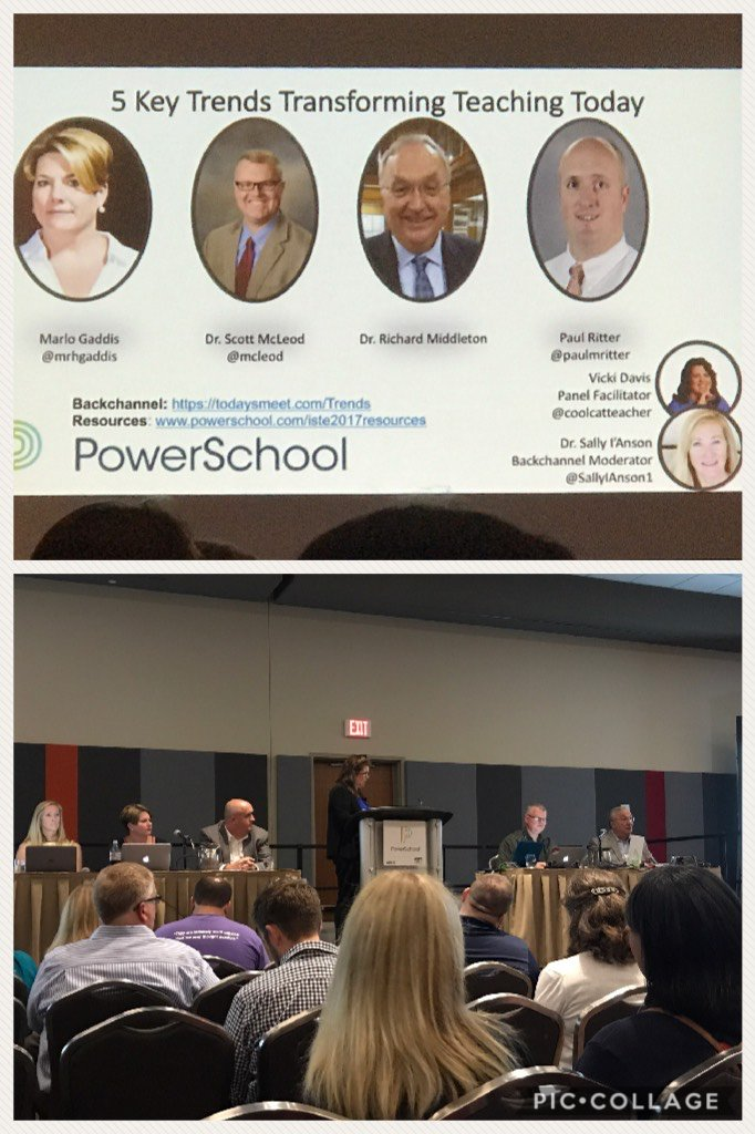 Seeing this panel at #ISTE17. Moderated by @coolcatteacher.  https://t.co/bWyWmGGhCa https://t.co/w3IadLaKxz